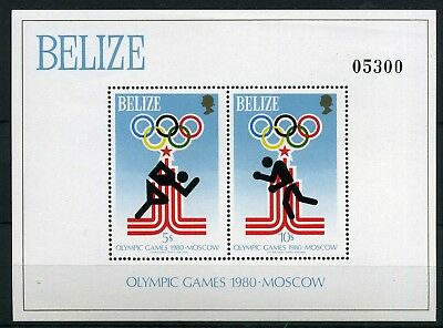 Belize MiNr. Block 10 postfrisch/ MNH Olympiade 1980 (Oly91