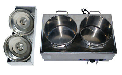 Peachy Food Warmer Portable Steam Table Countertop 2 Pots Soup Home Interior And Landscaping Staixmapetitesourisinfo
