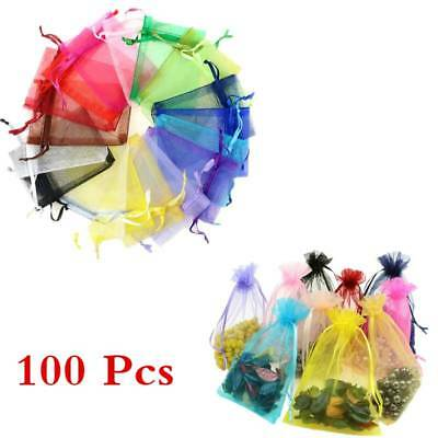 100pcs Gauze Organza Pouch Favor Bag Jewelry Packing Candy Wedding Gift