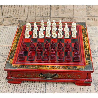 Antique Vintage Wooden Chinese Style Chess Board Table Games Set Pieces Gift