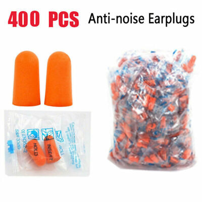 400PCS Ear Plugs Lot Bulk soft Orange foam sleep travel noise shooting, earplugs