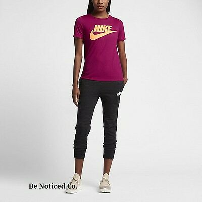 4d27476f21d8ac Nike Sportswear Essential Women s Short Sleeve Top S Fuchsia Pink Shirt  Casual