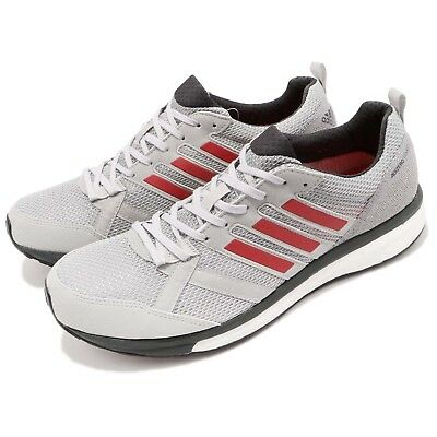 sports shoes 615f9 2db53 adidas Adizero Tempo 9 M Boost Grey Red Carbon Men Running Shoes Sneakers  BB6651