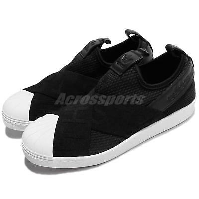 adidas Adidas superstar leather slip ons BY9139 BY9140 white black sneakers shoes originals (men's Lady's)