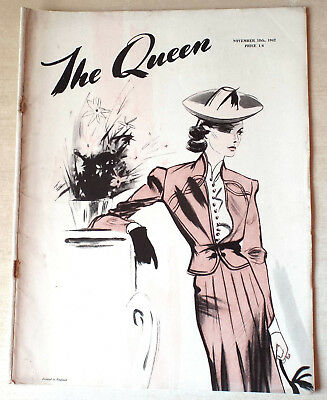 THE QUEEN [Magazine] 18th November 1942-Scarce Wartime Issue
