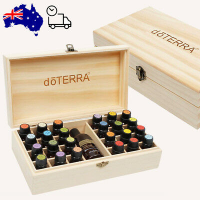 Essential Oil Wooden Storage Box 24+1 Trough Can Accommodate 100 mm High Bottle
