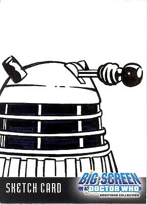 Dr Doctor Who Big Screen Additions Sketch Card of a Dalek by Kevin Graham /2