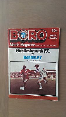 Middlesbrough V Barnsley 1980-81