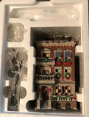 Dept 56- Christmas In The City- Parkside Holiday Brownstone- #58937- With Issues