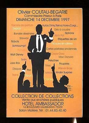 Catalogue Sale Collection of Collections 14/12/1997 Toys+Comics+ Plaques...