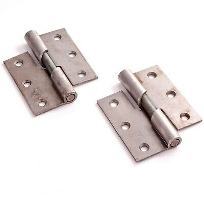 """2 PACK LEFT HAND RISING BUTT HINGE 75mm/3"""" Thick Steel Heavy Duty Lift Off PAIR"""