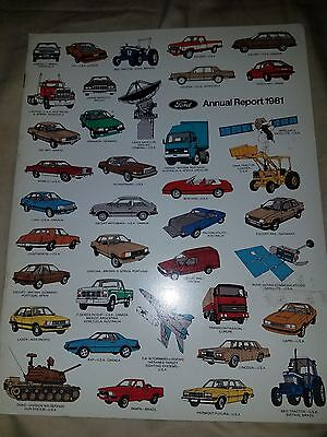 1981 FORD MOTOR  ANNUAL REPORT Thunderbird Mustang  F100 Cougar LTD 81
