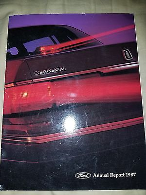1987 FORD MOTOR  ANNUAL REPORT Henry Ford II Tribute Thunderbird Mustang F150 87