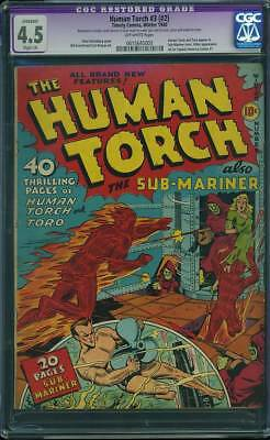 Human Torch # 2  The Torch & the Sub-Mariner !  CGC 4.5 scarce GA Timely !