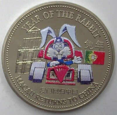 Great Britain 1999 Trade $1 Colorized Yr Of The Rabbit/race Car Perfect Pf Dcam