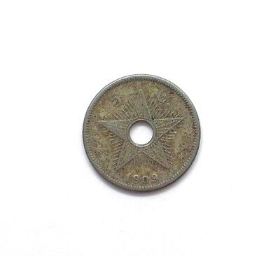 Belgian Congo 1909 5 Centimes  Extremely Fine  Km#12