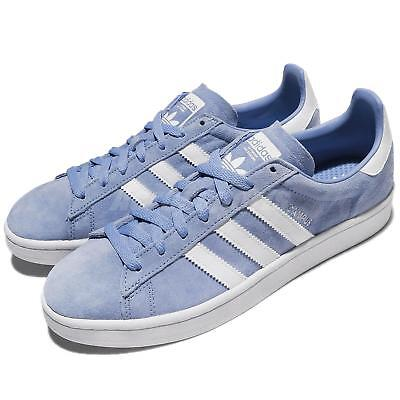 low priced d62c9 5deaa adidas Originals Campus Nubuck Ash Blue White Men Women Shoes Sneakers  DB0983