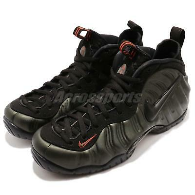 Nike Air Foamposite Pro Sequoia Black Team Orange Men Shoes Sneakers 624041-304