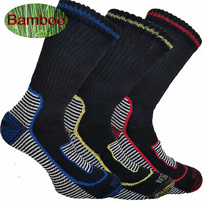 Mens Bamboo Cotton Work Boot  Socks Breathable Anti Sweat 6-11