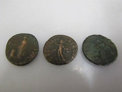 Lot Of 3 Mystery Ancient Roman Bronze & Copper Large Coins