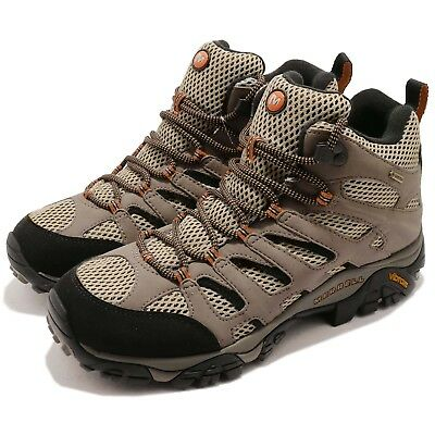 ff4ae8eae72af6 Merrell Moab Mid Gore-Tex Dark Tan Grey Men Outdoors Hiking Shoes Boots  J87311