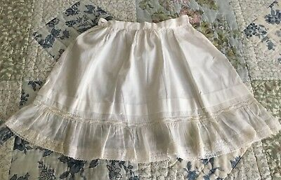 Antique Vtg Baby Toddler Girls Skirt Petticoat Slip - Gorgeous Lace Hem