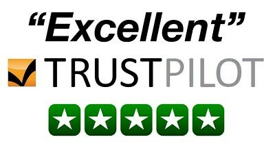 10 Trust Pilot Reviews - Rating 5 star * Delivery within 24 hours