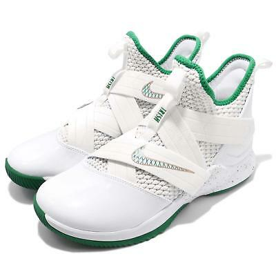 d1446cb2b25 Nike Lebron Soldier XII EP 12 James SVSM White Green Mens Shoes AO4053-100