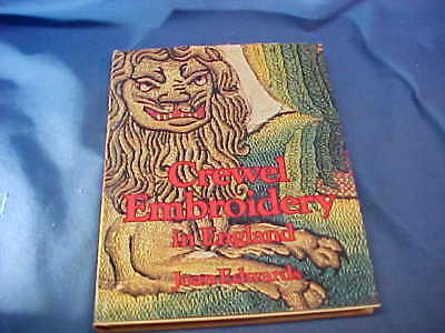 CREWEL EMBROIDERY In ENGLAND Hard Cover BOOK