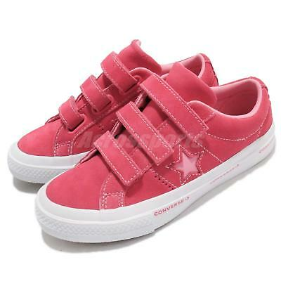 e67bdbd3f17a Converse One Star 3V Strap OX Pink White Kids Youth Women Shoes Sneakers  660038C