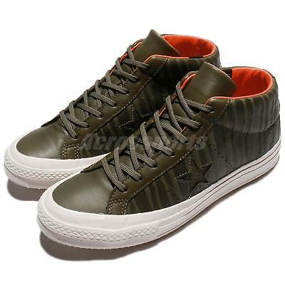 b841f755b23d Converse One Star Mid Counter Climate Leather Olive Men Skate Boarding  158836C