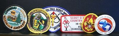 6 Vintage Boy Scout Patches Badges Scarf Slide 1960's -70's See Photos
