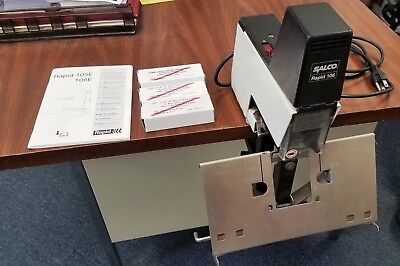 Salco Rapid 106 Electric Stapler w/ 3 boxes staples & Operator's manual