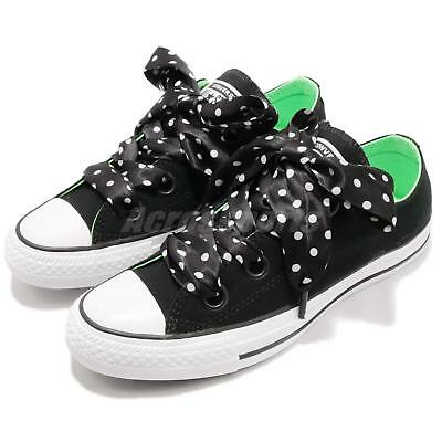 4c3d6823999 Converse Chuck Taylor All Star Big Eyelets OX Black White Green Women  560671C