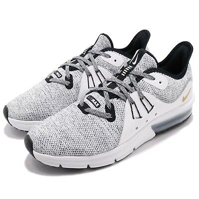 on sale 1befd baae8 Nike Air Max Sequent 3 GS Black White Kids Youth Women Running Shoes 922884- 007