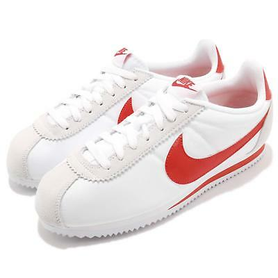 new arrival a8d66 11a6f NIKE CLASSIC CORTEZ Nylon White Habanero Red Men Running Shoe Sneaker  807472-101