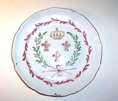 18th century  Tin glazed earthenware  plate