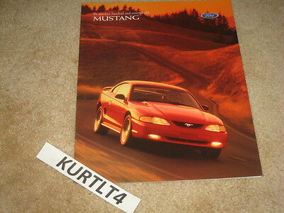 1998 Ford Mustang GT sales brochure dealer catalog auto car literature 26 page