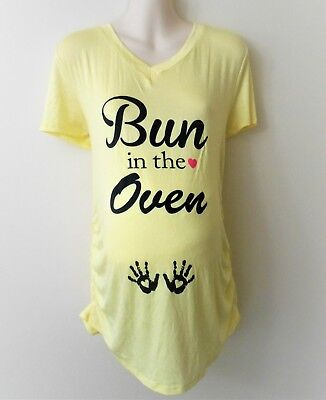 BUN IN THE Oven Funny Maternity Pregnancy T-shirt Tee Shirt