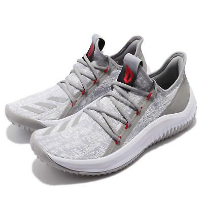low priced 7806f 1bab1 adidas Dame D.O.L.L.A. Damian Lillard Grey White Men Basketball Sneakers  DB1073