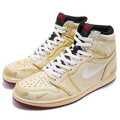 192a46c3b663 Nigel Sylvester x Air Jordan 1 High OG NRG Sail Varsity Red AJ1 Shoes BV1803 -