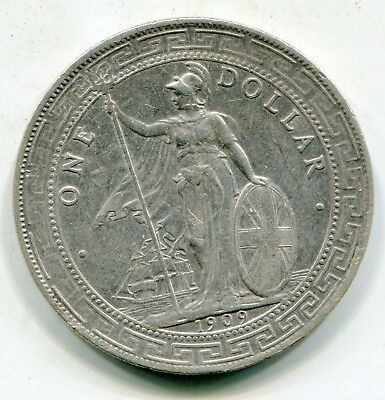 Great Britain Trade Dollar 1909 B nice coin   lotsep4513