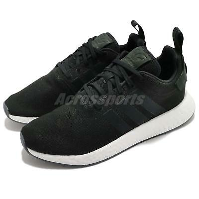 68a5aa3073d77 adidas Originals NMD R2 Boost Black White Men Running Shoes Sneakers CQ2402