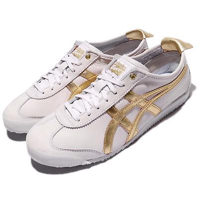 Asics Onitsuka Tiger Mexico 66 White Gold Leather Men Women Vintage D508K-0194