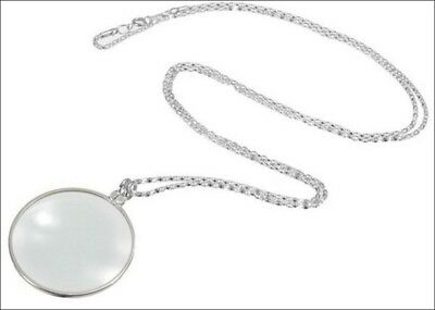 Magnifying Glass and Silvertone Necklace