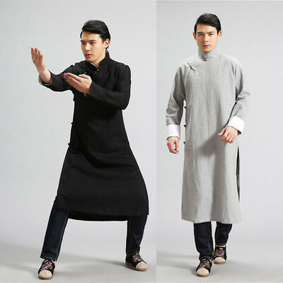 Wing Chun Robe Man Tai Chi Suit Martial Arts Uniforms National Style Brand New