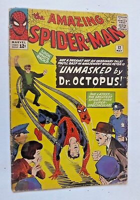 AMAZING SPIDER-MAN #12 MAY 1964 LOW GRADE - no reserve - 12 cent cover price