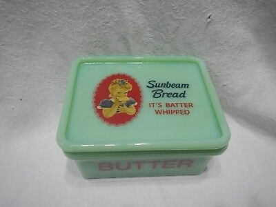 Sunbeam Bread Licensed Product Jadeite Butter Box