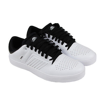Osiris Techniq Vlc Mens White Leather Sneakers Lace Up Skate Shoes
