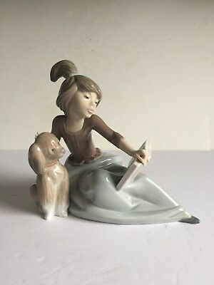 """Retired Lladro Porcelain A LESSON SHARED Figurine with Original Box 5475 6"""""""